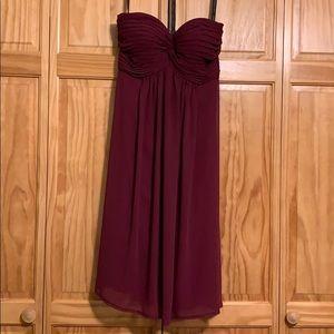 Bill Levkoff dress sangria color size 8